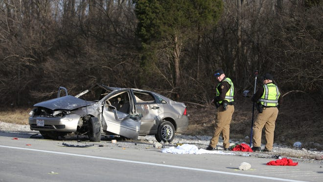 Multiple people were ejected during a crash on eastbound Interstate 275 in Fort Thomas near the Ohio border Monday afternoon, according to Campbell County dispatch.
