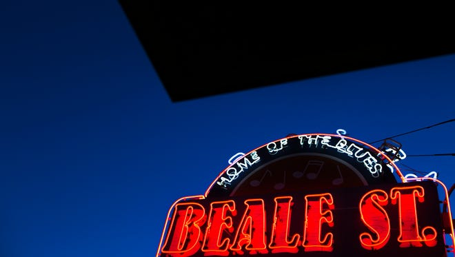 Beale Street is loaded with music, neon lights and food.