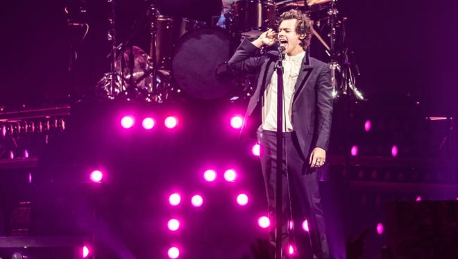 Harry Styles performs Wednesday at Bankers Life Fieldhouse.