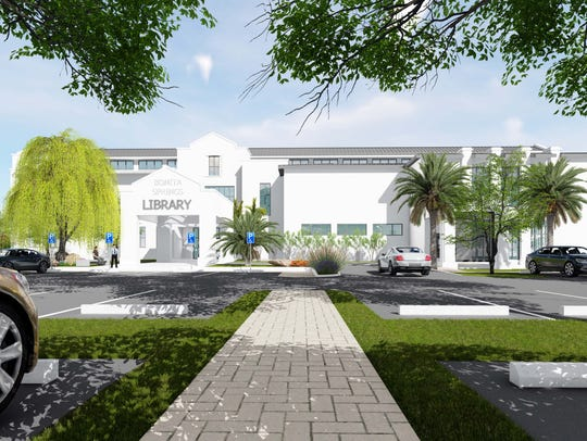 The library in downtown Bonita Springs is expected