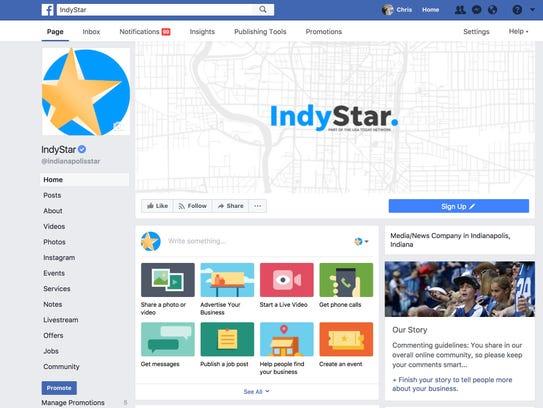 Facebook on desktop