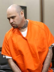 Arturo Garza attends a court hearing after he is accused of beating to death his pregnant girlfriend in 2015, on March 7, 2017, at the 319th District Court in Corpus Christi.