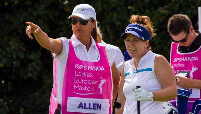 After nearly a decade of success playing on the Ladies European Tour, Ojai native Beth Allen, right, is playing on the LPGA for the second time in her career.