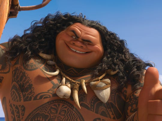 "In ""Moana,"" Maui is a demigod who sounds a lot like"