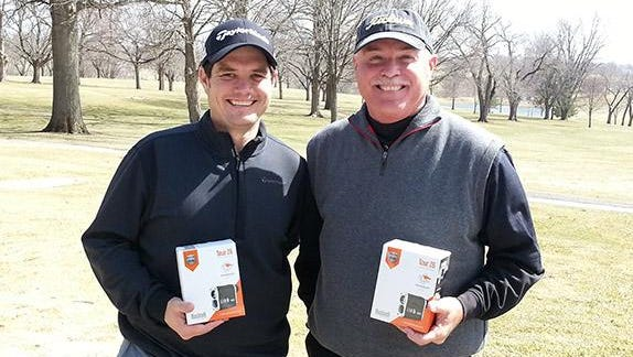 Curt Schnell, right, will be inducted into the Iowa Golf Hall of Fame on Wednesday.