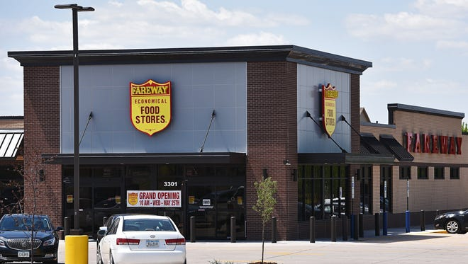 The new Fareway Economical Foods Store location at the corner of 41st Street and Sycamore Avenue Wednesday, May 18, 2016, in Sioux Falls.