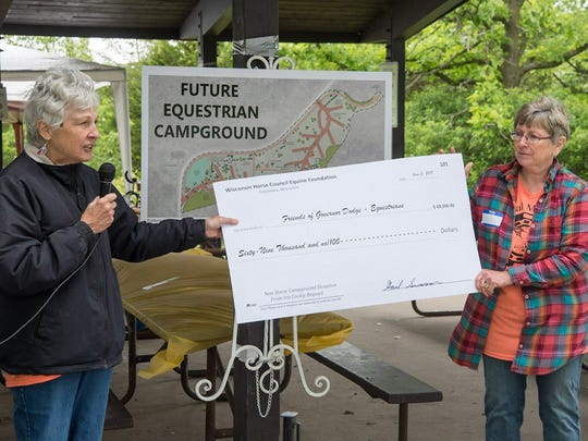 Fundraising efforts for a equestrian campground at Governor Dodge Park got off to a good start with a gift of almost $70,000 from the Iris Cooley estate.
