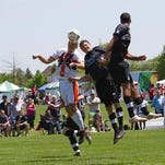 The Michigan Bucks, shown from action at the recent Canton Cup, will host this weekend's Central Conference Championship tournament at Ultimate Soccer Arenas.