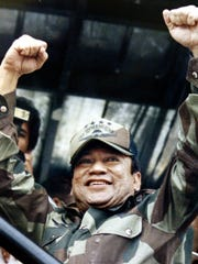 In this May 20, 1988, file photo, Panamanian military