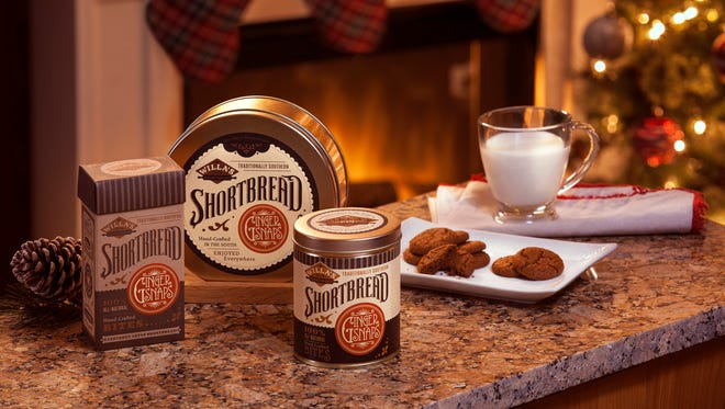 Willa's Shortbread offers seasonal gingersnap bites for the holidays.