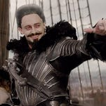 "Blackbeard (Hugh Jackman) is the most fearsome pirate in Neverland in ""Pan."""