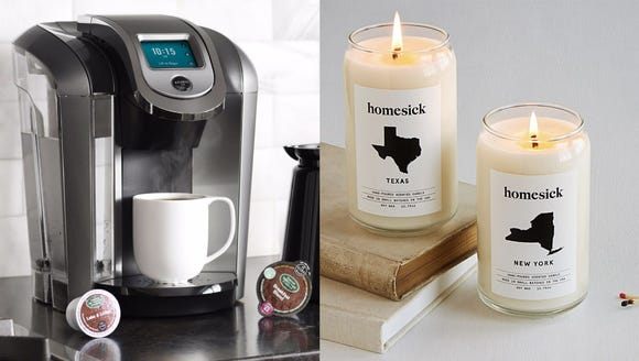 The 20 best gifts that college students actually need (Photo: Keurig / Homesick Candles)