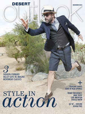 Desert Outlook's December 2016 Cover featuring Eddie Schachnow of Palm Springs.