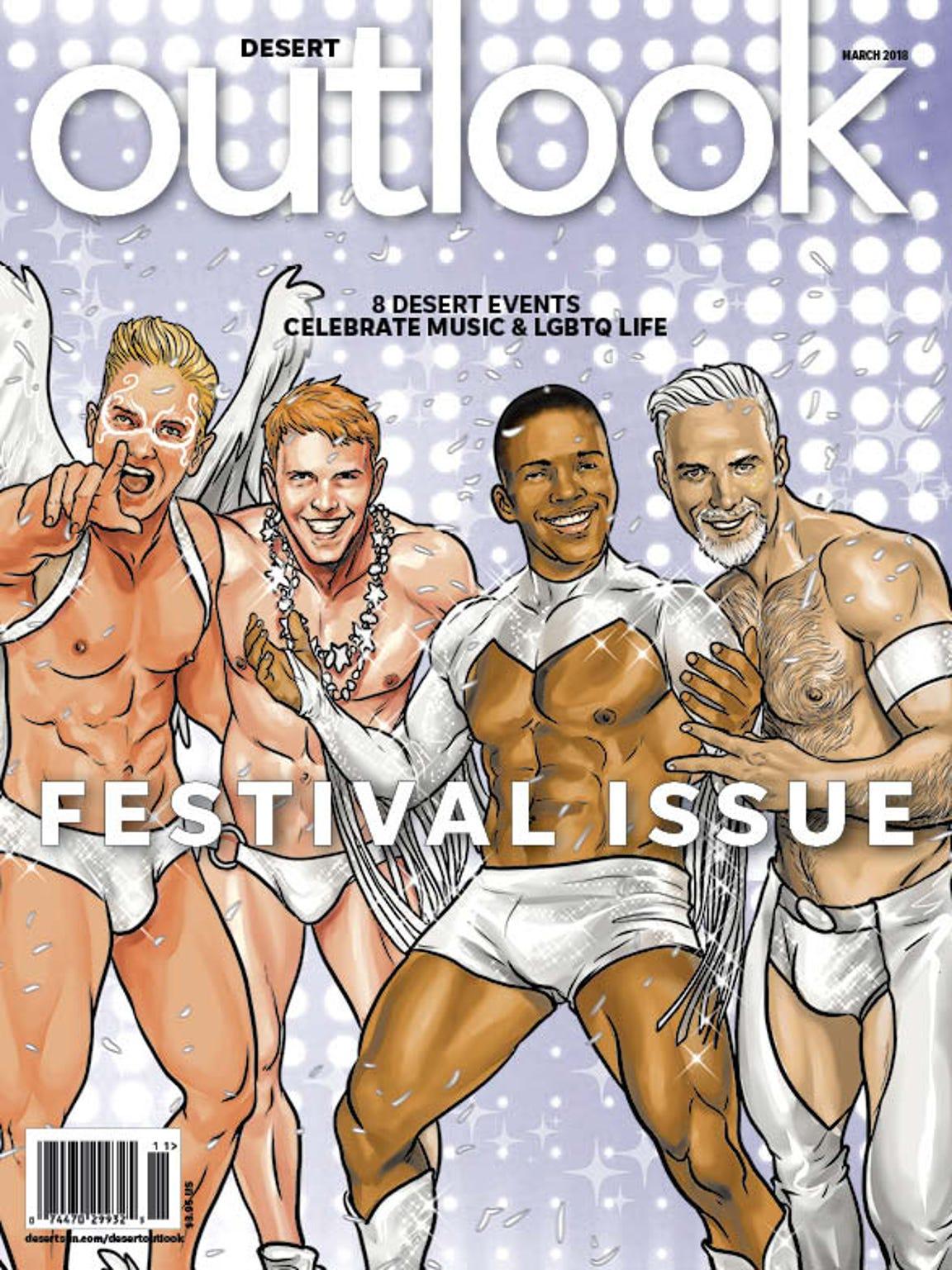 Desert Outlook's March 2018 Festival Issue. Cover image