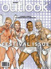 Desert Outlook's March 2018 Festival Issue. Cover image by comic artist Joe Phillips.