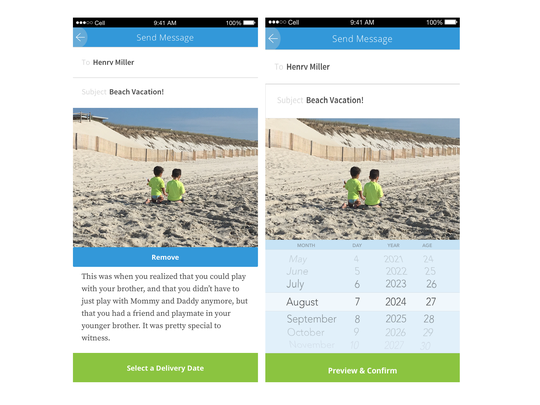 TimeSpring is a time-released messaging app.