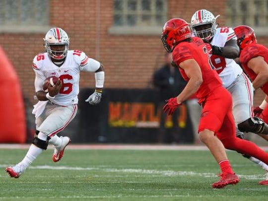 Ohio State quarterback J.T. Barrett (16)