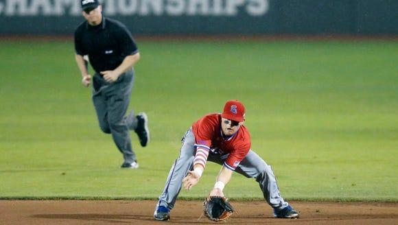 Louisiana Tech second baseman Jordan Washam is playing