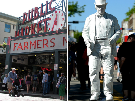 Pike Place Market vs. Broadway Farmers' Market.