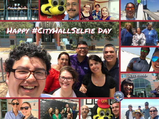 It's always a good day when you have to take selfies. #CityHallSelfieDay #VivaCC