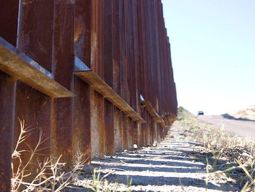a look at the united states mexico border Donald trump border wall:  what will it look like and how much  pedestrians make their way into the the united states from mexico at the pedestrian border.