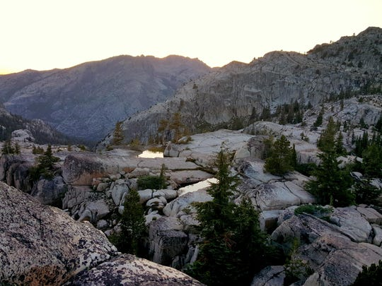 These ponds near Smedberg Lake in Yosemite National Park have sunset views.