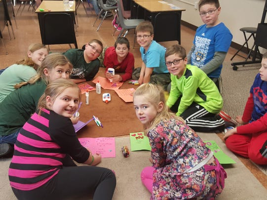 Oostburg Christian School third- and fourth-graders recently made decorations for the residents of Pine Haven Christian Home in Oostburg. They made and decorated valentines for them.
