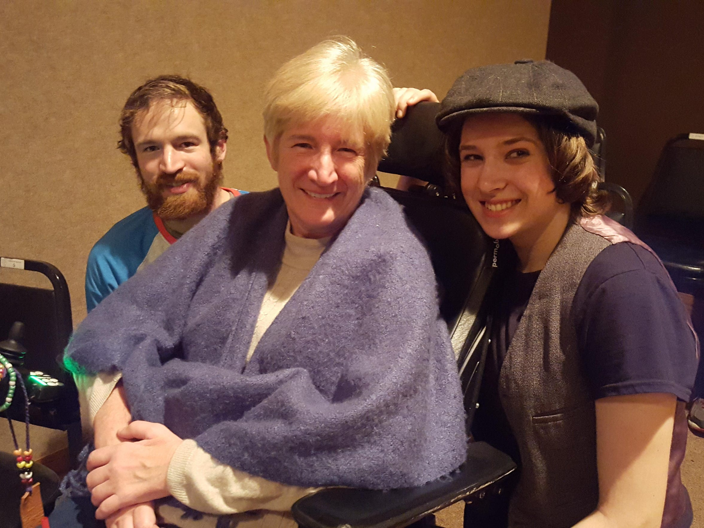 "Pam Hillery poses with her children Caroline and Dolan Tuss at opening weekend for Montana Actors Theatre-Havre production of ""Mary Poppins,"" which Caroline performed in. Since she doesn't expect to live to see her sophomore graduate, Pam is enjoying the heck out of all her other milestones and accomplishments."