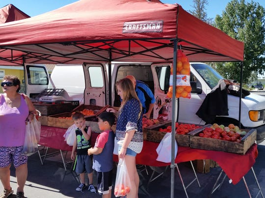 Fresh California fruit is for sale June 24 from R. Schletewitz Family Farms at the Yerington Farmers Market at the Jeanne Dini Center in Yerington.