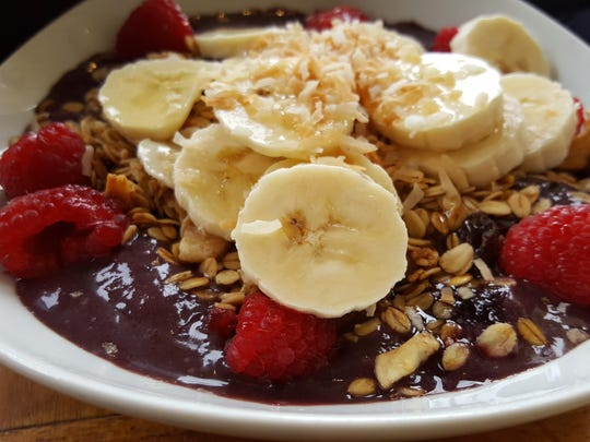 A healthy Acai bowl for breakfast
