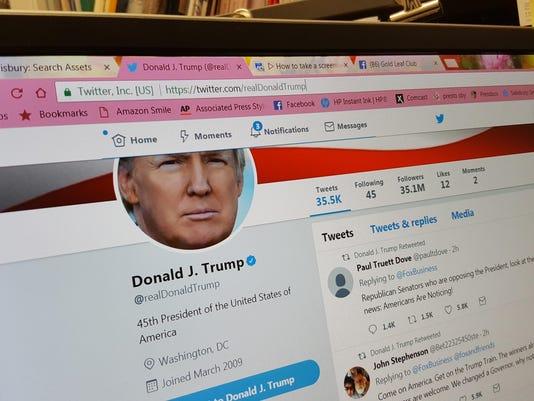 trump twitter screen