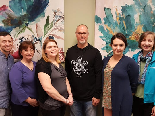 Board of Directors for the Healing Arts Alliance of the Big Bend, Inc., 2018-2020 term, from left: Vice Chair Kevin Taylor, Treasurer Pat Dudley-Gregory, Secretary Kelli Mercer, Dr. Thomas, Executive Director Arielle Raff, and Chair Caroline Collins.