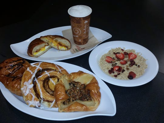 Get up and go with such popular items as breakfast sandwiches, oatmeal, cappuccino and fresh pastries at Atlanta Bread Company on Route 10 in Morris Plains.