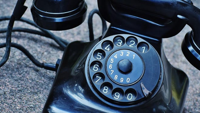 Remember the hard work of dialing a phone? This model may be a little before our time, but as you can see today's phones are an entirely different item.