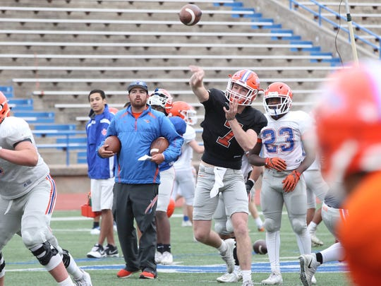 San Angelo Central High School quarterback Maverick McIvor (7) will be the first Bobcat quarterback to have two years as a starter since Mickey Scott in 2012-13. He's already received a slew of Division-I scholarship offers.