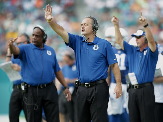 The Colts have never lost a game to the Titans with Chuck Pagano as coach.