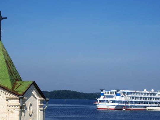 The Scenic Tsar docked in Goritsy, a small Russian