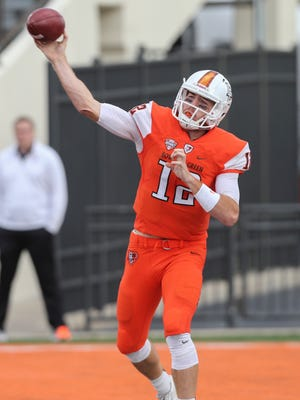 Bowling Green State University quarterback James Morgan is the first freshman in program history to pass for at least 250 yards in three straight games. The former Ashwaubenon standout was named the Mid-American Conference's Eastern Division offensive player of the week Monday.