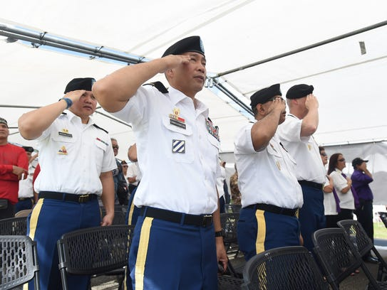 A Memorial Day ceremony was held at the Guam Veterans