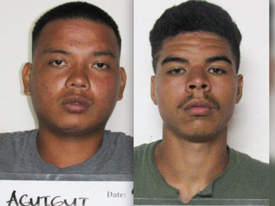 Bradley Gene Aguigui, left, and Javon Dewitt Scales are shown in a combined photo.
