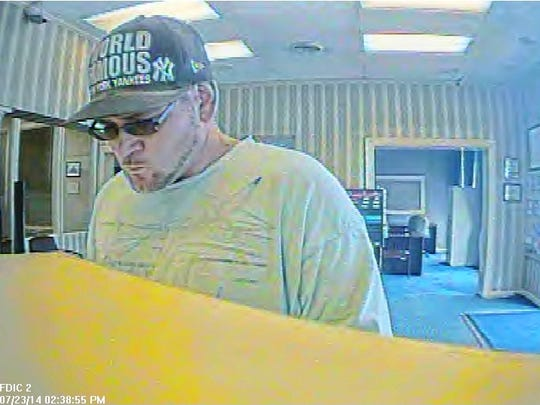 Bank Of Kentucky Robbery 07-23-2014