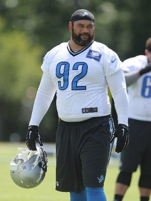 Haloti Ngata will anchor the intererior of the Detroit Lions' defensive line.