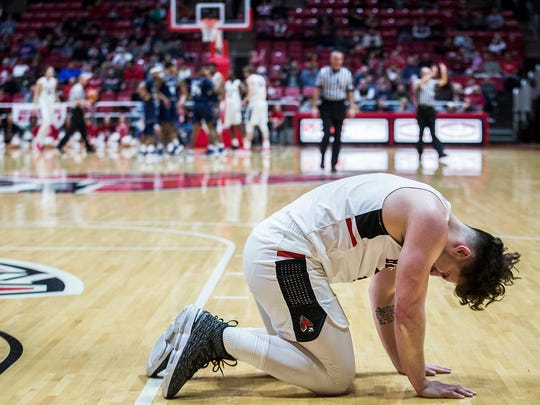 Ball State's Tayler Persons against Jackson State at Worthen Arena Friday, Dec. 22, 2017.