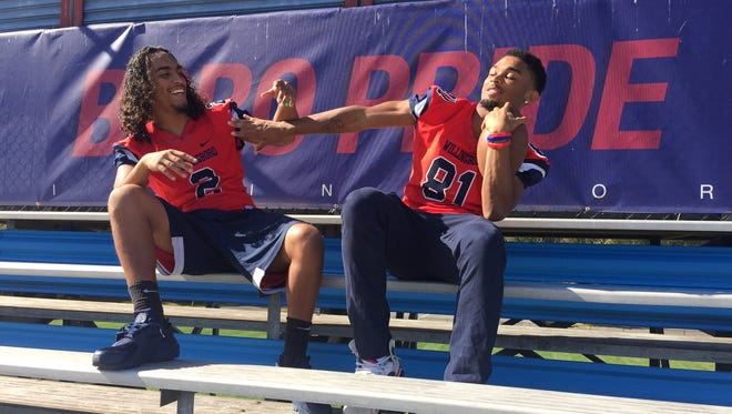 Willingboro seniors Trae Greene, left, and David Green III, right, aren't just record-setting football players, they have a bond that goes far beyond the gridiron.