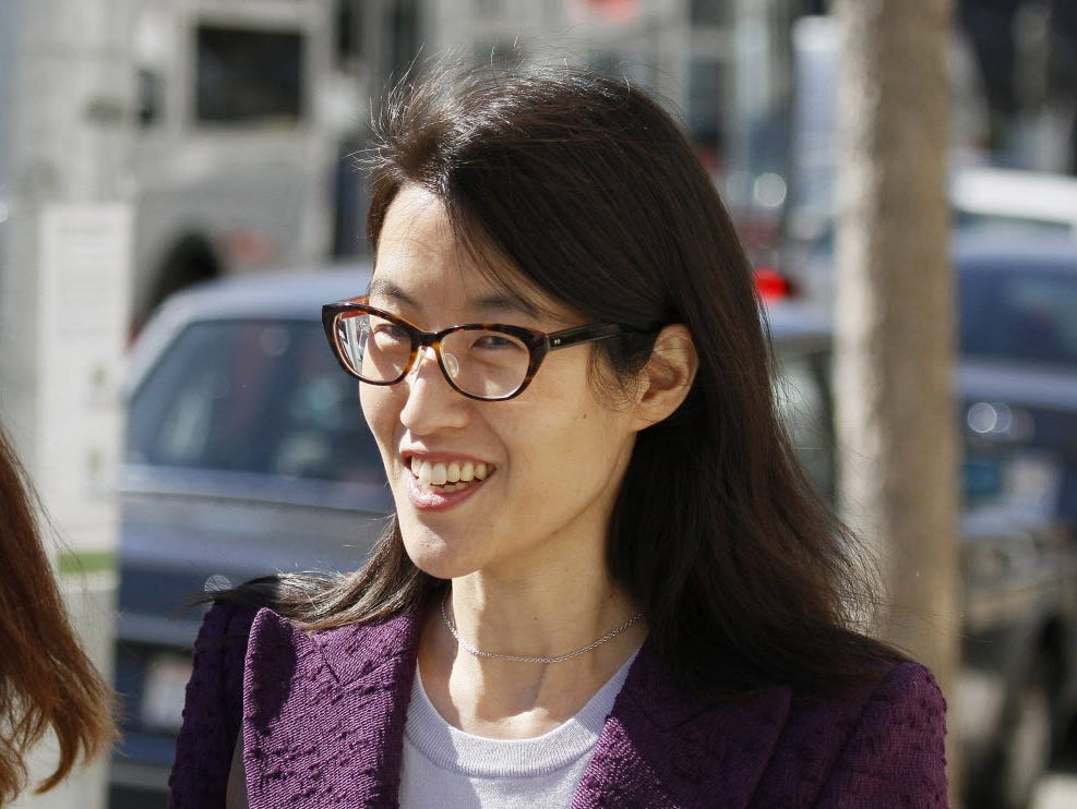 In this Feb. 24, 2015, file photo, Ellen Pao leaves the Civic Center Courthouse during a lunch break in her trial in San Francisco. Pao lost a high-profile gender bias lawsuit against an elite Silicon Valley venture capital firm.
