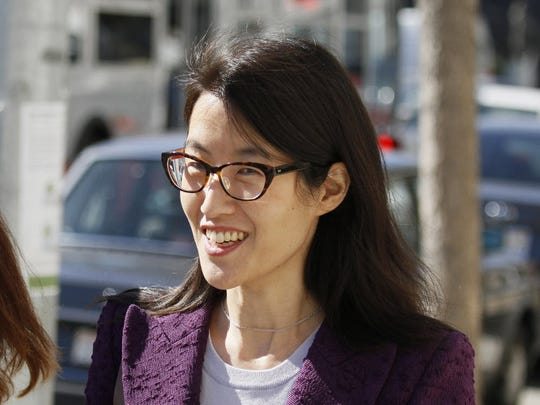 In this Feb. 24, 2015, file photo, Ellen Pao leaves