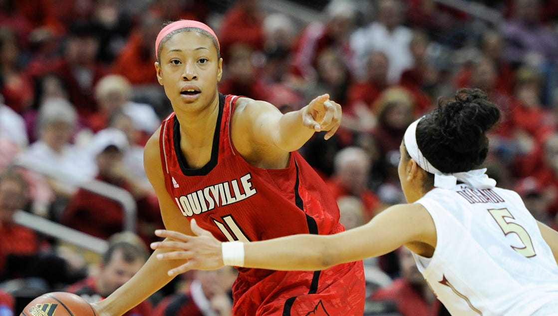 Louisville women's basketball player collapses on bench