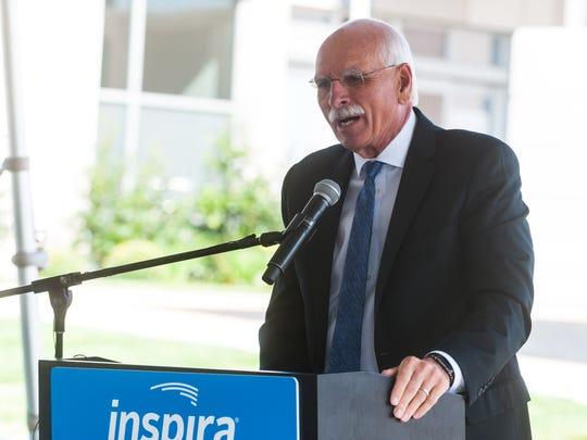 Ron Rossi, donor and Vice Chair of Board, speaks during the opening of the new Inspira Health Network Vineland Geriatric ER on Wednesday, September 20.