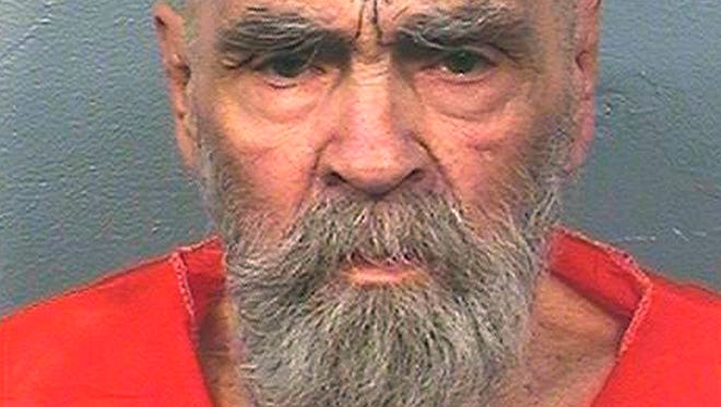 This Aug. 14, 2017 file photo provided by the California Department of Corrections and Rehabilitation shows Charles Manson.