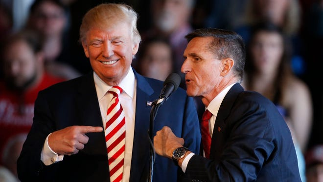 President-elect Donald Trump and Michael Flynn in Grand Junction, Colo., on Oct. 18, 2016.